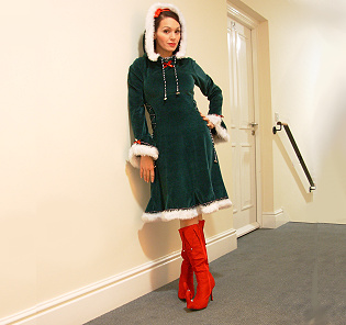 Lynnette as a Christmas Elf